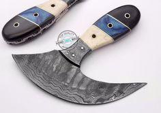 Custom Hand made Beautiful Damascus Steel ULU Knife (AA-0365-3) #UltimateWarrior