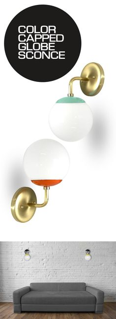 Sconces are a classic light fixture. With Dutton Brown's unique globe sconces, you can bring mid-century modern with pops of color into your home.