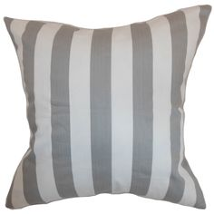 Ilaam Stripes Cotton Throw Pillow