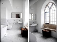 Chapel - window seat in the bathroom