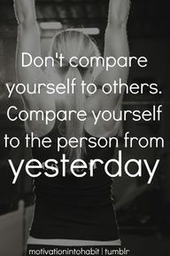 Who you were yesterday has everything to do with who you should be today.