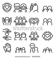 Friendship & Friend icon set in thin line style Game Icon, Icon Set, App Design, Icon Design, Bridge Logo, Film Icon, Gold Models, Thin Line, Art
