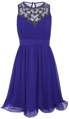 Pin for Later: Party On With These 50 Party Dresses Under £50  Ice Blossom Jewel Embellished Pleated Prom Dress (£40)