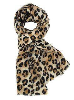 1ab932a5e26 DAMILY Femmes Hiver Trendy Léopard Imprimé Animal Echarpe Châle Wrap  Élégant Long Pashmina Couverture Foulards (Couleur 1)