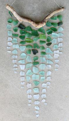 basteln mit treibholz ast glas wand dekoration diy wanddeko selber machen