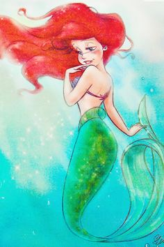 Mermaid art, mermaid disney, ariel mermaid, ariel the little mermaid, m Ariel Disney, Disney Pixar, Disney Girls, Disney And Dreamworks, Disney Characters, Mermaid Disney, Ariel Mermaid, Disney Princesses, Disney Mickey