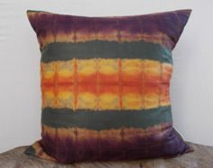 Hand Tie dyed Shibori Pillow Cover