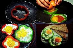 St. Patrick's Day-food ideas-eggs in pepper shamrocks