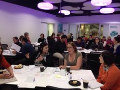 Lively discussions at the Whose Shoes? workshops at Alzheimer's Australia, Victoria.
