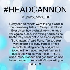 A Percy Jackson Headcanon credit to @_percy_posts_ on instagram