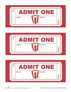 Movie Party Invitations Worksheet