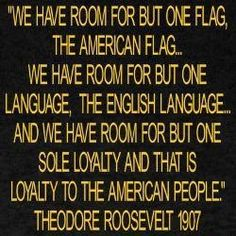 President Roosevelt looked for a common unity among the American people.  He lived before patriotism died, and political correctness was born.