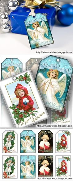 Free Christmas gift tag downloads.  http://irinascutebox.blogspot.com/2010/12/christmas-gift-tags-digital-download.html