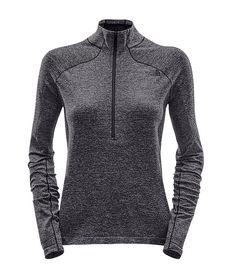This baselayer top is engineered with minimal seams and delivers targeted comfort for premier performance on alpine missions.