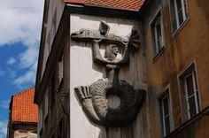 Olsztyn, staromiejskie sgraffito http://www.kochamywarmie.pl/2017/10/sladami-dekoracji-na-elewacjach.html