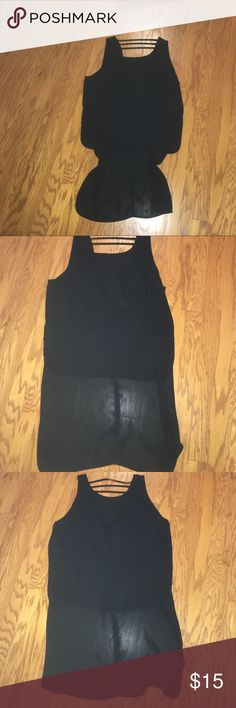 Open back train top! Back size m, urban outfitters Lower in the front, long in the back, open back! Fun! Tops Tank Tops