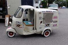 vespa ice cream by Piaggio Ape.