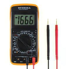 Professional Auto Electric Handheld Tester AC/DC LCD Display COMS Meter Digital Multimeter Voltmeter Ammeter Multitester UC# #Affiliate