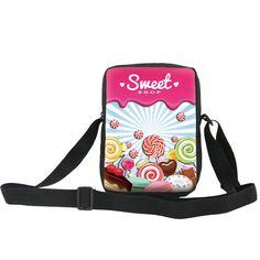 ONE2 Sweet Candy Color Design Kids Messenger Bags New Lollipops Rectangle Small Shoulder Bag New Boys Cross body Schoolbag