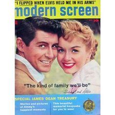 MODERN SCREEN magazine Debbie Reynolds-Eddie Fisher cover, October 1956.