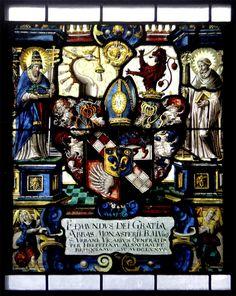 Heraldic window in the church at Mellingen, Aargau, Switzerland
