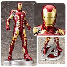 BLOG DOS BRINQUEDOS: Avengers Age of Ultron Iron Man Mark 43 ArtFX Stat...