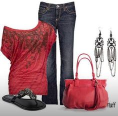"""""""Red Hot"""" Valentines outfit"""