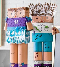 Teach your kids about recycling with this fun project! Projects For Kids, Diy For Kids, Crafts For Kids, Arts And Crafts, Glue Crafts, Ribbon Crafts, Paper Crafts, Art Classroom, Recycled Crafts
