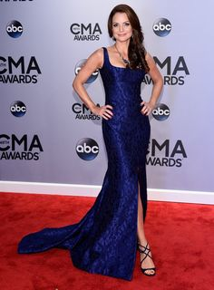 Pin for Later: Country Goes Glam! See All the Stars on the CMA Awards Red Carpet Kimberly Williams-Paisley