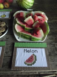 No Minecraft party complete without Water Melon!