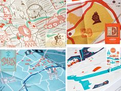 illustrated city maps