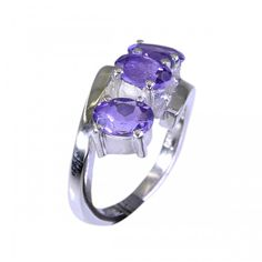 Riyo Warm Amethyst 925 Solid Sterling Silver Purple Ring Srame5.5-2008