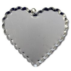 Jumbo Heart Cap Pendants from Bottle Cap Co offering over size metal cap pendants for crafting and jewelry making. Our heart cap pendants are 3 inches wide. Valentines Day Party, Jewelry Making, Pendants, Metal, Bottle Caps, Silver, Gifts, Hearts