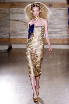 LWren Scott FW 2013-14 RTW Collection - glamorous gold