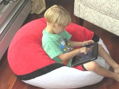 POKEMON Bean Bag Chair with Name Comic by bluemonkeystyle
