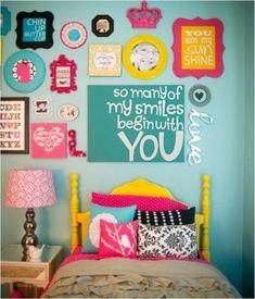 Fröhliche Schlafzimmer Design Idee für Mädchen - Individualität