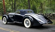 Classic Delage 120 Cabriolet design 1938 ❤ App for your car ★ Car Warning… Retro Cars, Vintage Cars, Antique Cars, Sexy Cars, Hot Cars, Jaguar, Hispano Suiza, Cabriolet, Roadster
