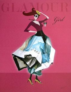 Dominque-Vari-Glamour-girl-Fertig-Bild-30x40-Mode-Wandbild-modern-Fashion