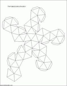 Net tetrakis hexahedron | творилки | Pinterest | Craft