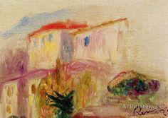 Pierre Auguste Renoir La Poste At Cagnes (study) oil painting reproductions for sale