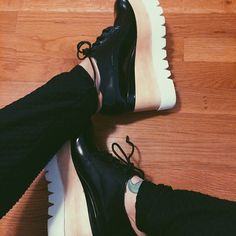 Anna in the Jeffrey Campbell Berliner Leather Platform || Get the platforms: http://www.nastygal.com/product/jeffrey-campbell-berliner-leather-platform--white?utm_source=pinterest&utm_medium=smm&utm_term=ngdib&utm_content=omg_shoes&utm_campaign=pinterest_nastygal