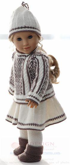 Breien poppenkleertjes - Prachtige herfstkleding voor uw pop