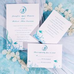 Under The Sea Wedding Invitations [WWI010] [WWI010] - $0.00 : Cheap Wedding Invitations Free Response Card  Printed Envelops @ V.P