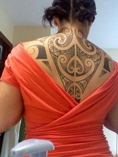 tribal maori tattoos upper back women pictures Maori Back Tattoo