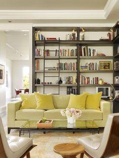 Vintage Green Living Room.