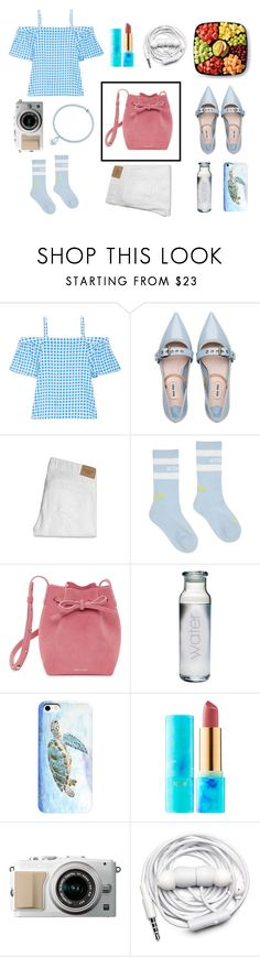 """ootd"" by vikisi ❤ liked on Polyvore featuring Draper James, Miu Miu, Abercrombie & Fitch, Vetements, Mansur Gavriel, tarte, Urbanears, Tiffany & Co. and oodt"
