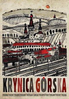 Krynica Górska, plakat promocyjny, Ryszard Kaja