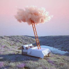 Inspired by the Itsukushima Shrine in Japan, the multidisciplinary designer Yomagick created a series of dreamlands. Between floating clouds and a pastel sky Foto Fantasy, Design Graphique, Sky Aesthetic, Surreal Art, Oeuvre D'art, Beautiful Landscapes, Aesthetic Pictures, Aesthetic Wallpapers, Clouds