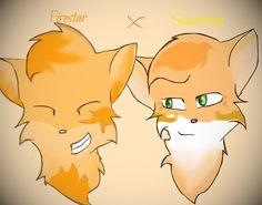 Firestar and Sandstorm by silvershade21XD.deviantart.com on @DeviantArt