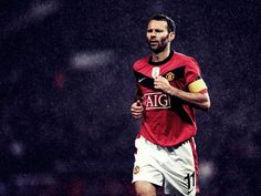 Ryan Giggs (Wales) - Manchester United Manchester United Images, Manchester United Legends, Manchester United Football, Football Boys, Football Players, Professional Football, Old Trafford, Man United, Fangirl